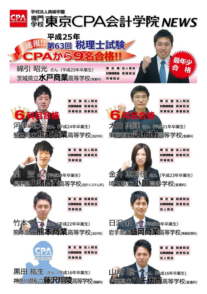 2013年税理士試験合格者速報